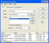 Screenshot programu Effective File Search 6.8.1