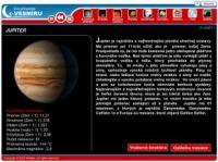 Screenshot programu Encyklopédia Vesmíru 3.0
