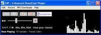 Screenshot programu Enhanced ShoutCast Player 1.00