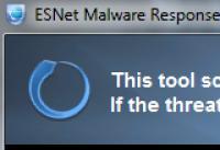 Screenshot programu ESNet Malware Response Removal Tool 1.0
