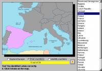 Screenshot programu European Geography Tutor 1.7.0