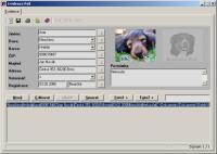 Screenshot programu Evidence psů 1.1