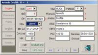 Screenshot programu EvMO - evidence členů MO 2007.6.26