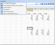 Screenshot programu Excel Table To XML Converter Software 7.0