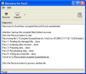 Screenshot programu ExcelRecovery 4.1.0837