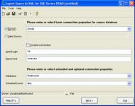 Screenshot programu Export Query to XML for SQL server Professional 1.07.00