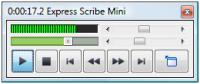 Screenshot programu Express Scribe 5.55