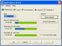Screenshot programu EyesProtector 10 Release 05-12-2015
