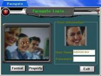 Screenshot programu FaceGate 2.15