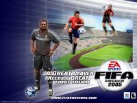 Screenshot programu FIFA Soccer  2005