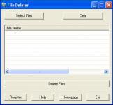 Screenshot programu File Deleter 1.0.0.1