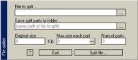 Screenshot programu File Spliter 1.0.2.8