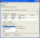 Screenshot programu Find and Replace Tool For Powerpoint 1.1