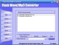 Screenshot programu Flash Wave2Mp3 Converter 1.1.3