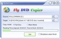 Screenshot programu Fly DVD Copier 4.9.0