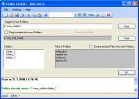 Screenshot programu Folder Creator 1.0.2.0