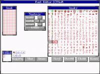 Screenshot programu FontEdit 1.0