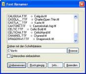 Screenshot programu FontRenamer 1.0