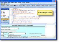 Screenshot programu Formuláře DF 2007