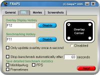 Screenshot programu Fraps 3.5.99
