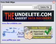Screenshot programu Free Disk Wipe 2.8.1