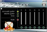 Screenshot programu Free Guitar tuner 1.50