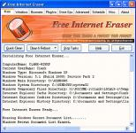 Screenshot programu Free Internet Eraser 3.50