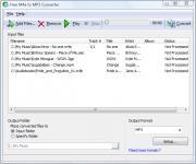 Screenshot programu Free M4a to MP3 Converter 5.9