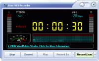 Screenshot programu Free MP3 Recorder 1.1