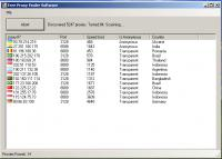 Screenshot programu Free Proxy Finder Software 1.2