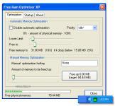 Screenshot programu Free Ram Optimizer XP 1.0