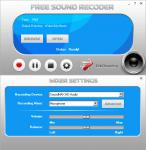 Screenshot programu Free Sound Recorder 10.5.1