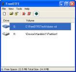 Screenshot programu FreeOTFE 5.10