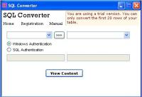 Screenshot programu Freewind SQL Converter 1.9