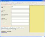 Screenshot programu Friends Addresses and Directions Tracker 1.0