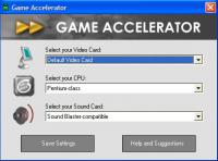 Screenshot programu Game Accelerator 11.3
