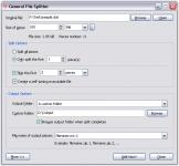 Screenshot programu General File Splitter 2.0 Build 601