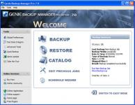 Screenshot programu Genie Backup Manager Home Edition 8.0