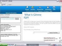 Screenshot programu Gimme P2P 1.2.0.0