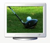 Screenshot programu Golf Club Screensaver 1.0