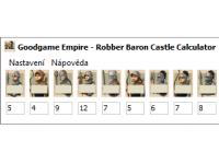 Screenshot programu Goodgame Empire - Robber Baron Castle Calculator 1.0