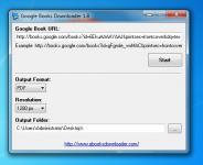 Screenshot programu Google Books Downloader 2.2