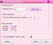 Screenshot programu HLP Free Memory Optimizer 1.1.9