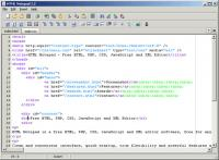 Screenshot programu HTML Notepad 1.2