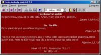 Screenshot programu Hesla jednoty bratrské 2.1