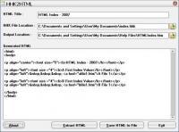 Screenshot programu HHK2HTML 1.0