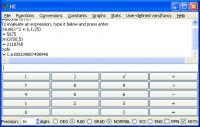 Screenshot programu Houbysoft Calculator 4.0.1 GUI
