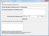 Screenshot programu How Long Since? 1.0.0.7