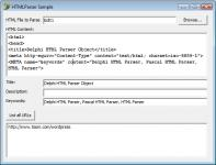 Screenshot programu Html Parser 1.0