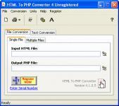 Screenshot programu HTML To PHP Converter 6.1.0.17